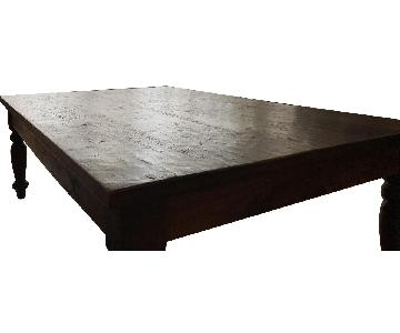 Crate & Barrel Rectangular Wood Coffee Table
