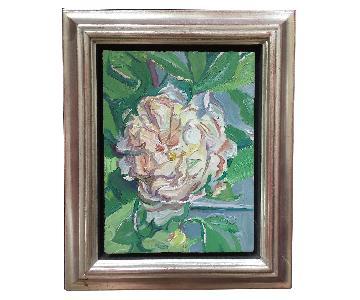 David Beynon Pena Original Floral Oil Painting - Hydrangea