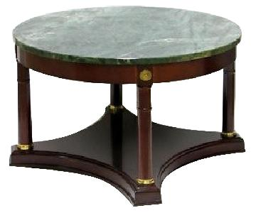Bombay Company Green Marble Round Coffee Table