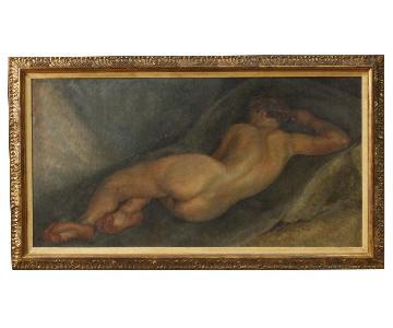 Flemish Signed Nude Female Painting