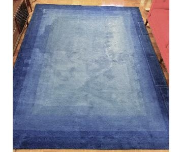Home Decorator's Collection Blue Wool Rug