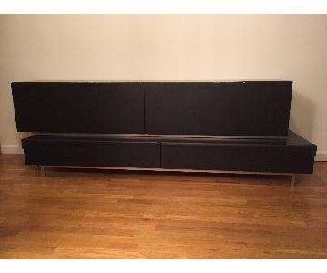 Black TV Stand w/ 4 Large Drawers