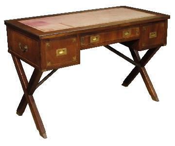 English Writing Desk in Mahogany Wood