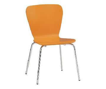 Crate & Barrel Felix Orange Dining Chair