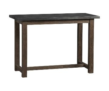 Crate & Barrel District Metal Top High Dining Table