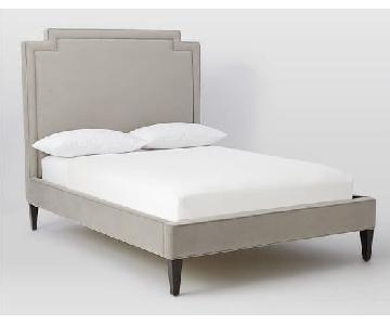 West Elm Harlow Velvet Upholstered Bed