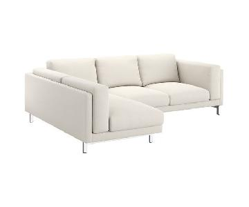Ikea Nockeby Chaise Sectional Sofa in White