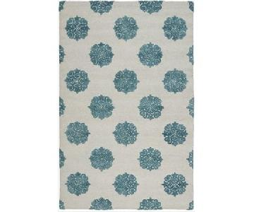 Safavieh Soho Ivory/Light Blue Wool Rug