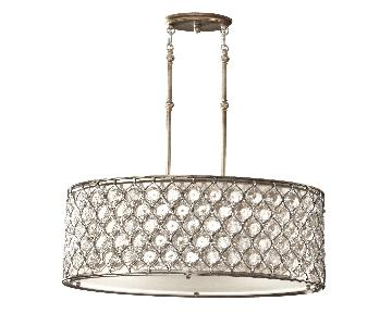 Murray Feiss Lucia Oval Chandelier in Burnished Silver
