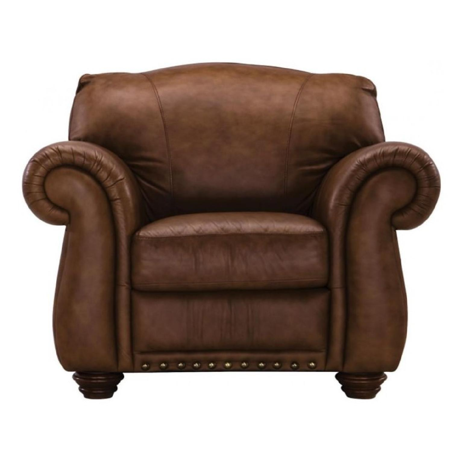 Raymour & Flanigan Elba Reclining Leather Chair