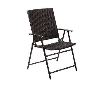 Hand Woven Wicker Outdoor Foldable Chairs