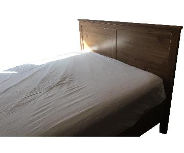 Ikea Natural Wood Veneer Full Bed
