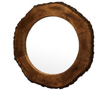 AllModern Round Wood Mirror