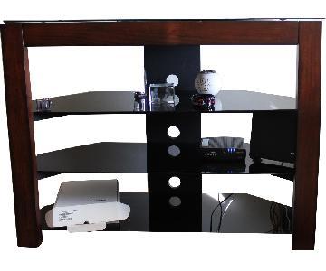 4 Shelf Glass TV stand