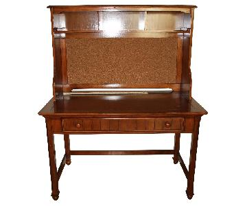 1 Drawer Wooden Desk w/ Detachable Top