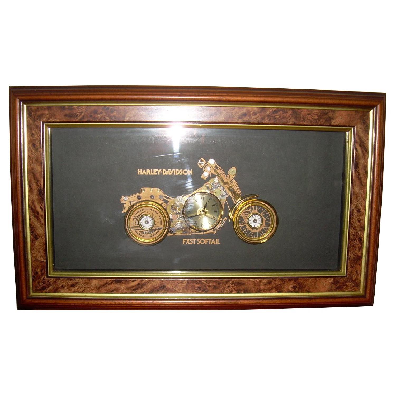 Zint Geschenke & Design Harley Davidson Collage Clock