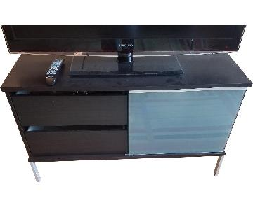 Modern TV Stand in Cappuccino w/ 2 Drawers & 3 Shelves