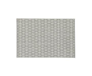 Crate & Barrel Indoor/Outdoor Grey Patterned Rug