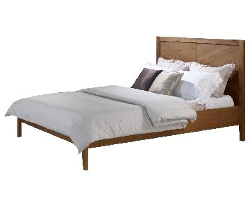 Walker Edison Shevron Transitional Queen Bed