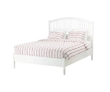 Ikea Tyssedal White Queen Bed Frame