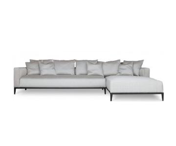 PeraDesign Grey Tweed 2-Piece Sectional Sofa