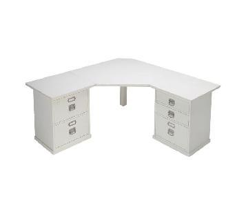 Pottery Barn Bedford L-Shaped Corner White Desk