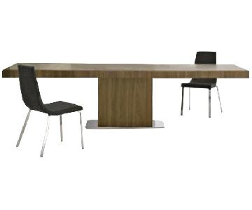 Calligaris Park Extendable Dining Table w/ 6 Cruiser Chairs