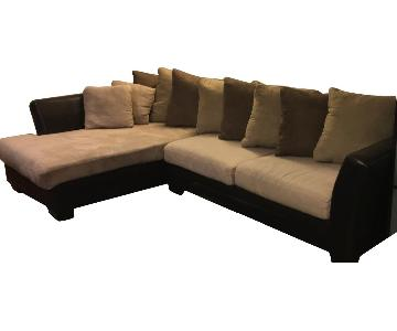 Faux Leather 2-Piece Sectional Sofa w/ Chaise