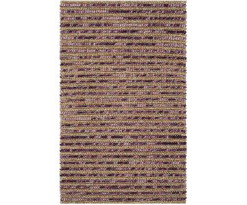 Safavieh Hand-Knotted Vegetable Dye Chunky Purple Hemp Rug