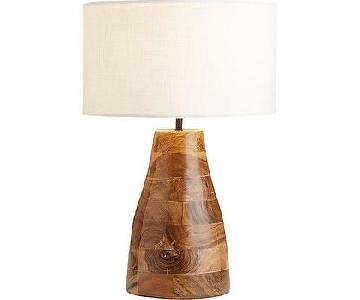 CB2 Colby Lacquered Wood Lamps
