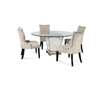 Macy's Glass Dining Table w/ 4 Chairs