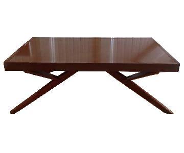 Mid Century Walnut Convertible Coffee/Dining Table