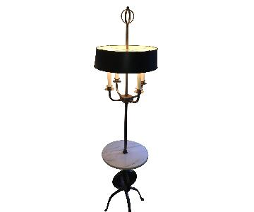 Freestanding Lamp w/ Marble Table