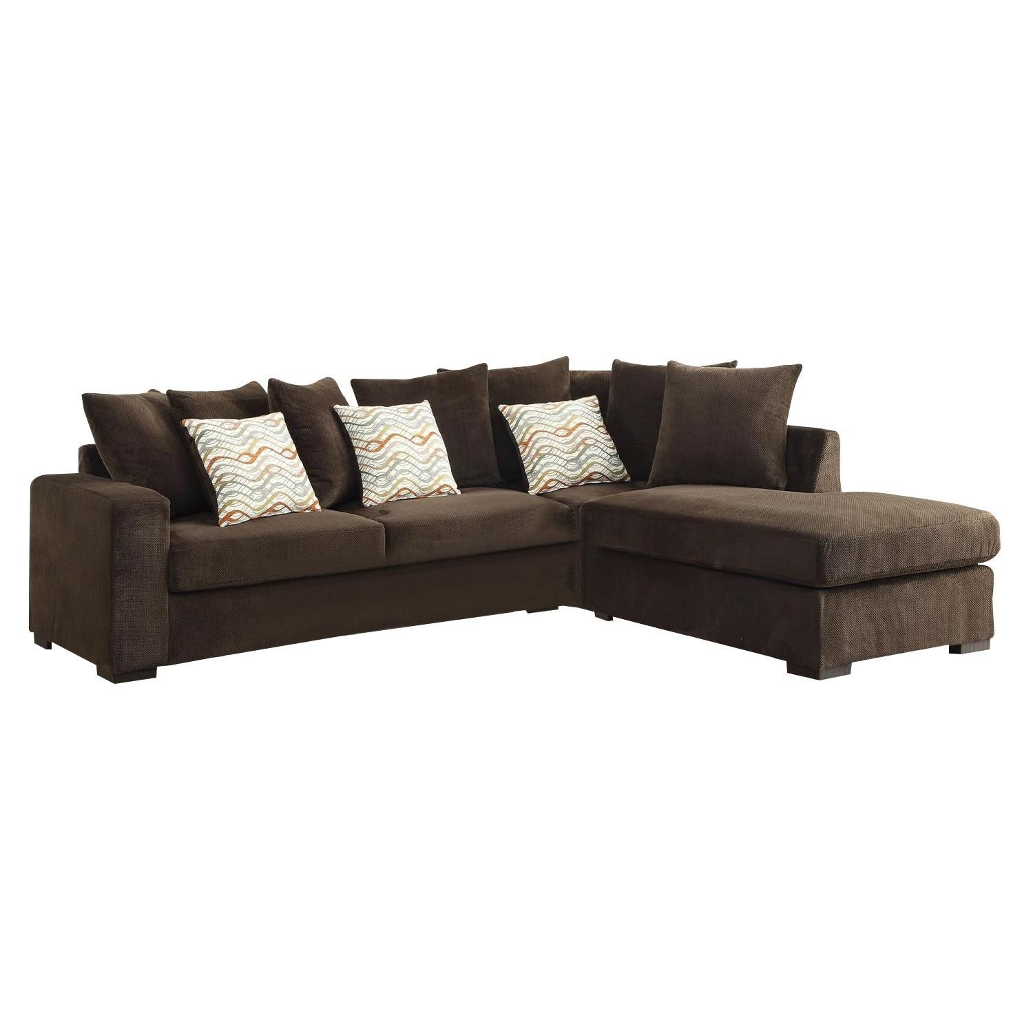 Fabulous Reversible Sectional In Chocolate Textured Chenille Fabric Pdpeps Interior Chair Design Pdpepsorg