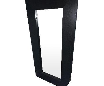 Large Black Wood Framed Mirror