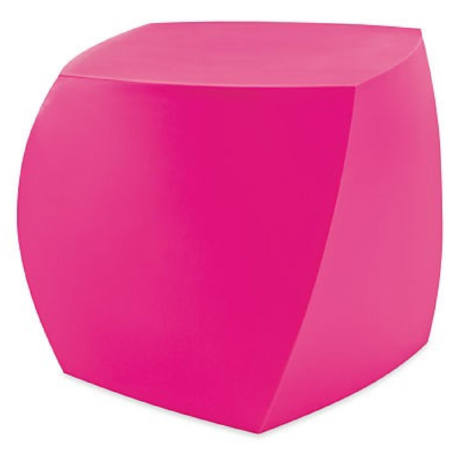 Heller Inc Bright Pink Frank Gehry Cube/Stool/Table