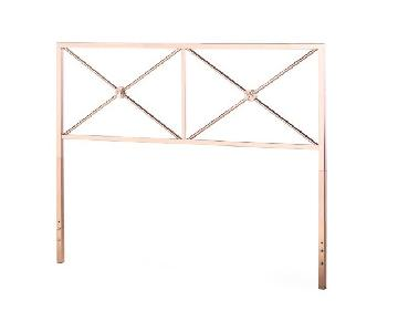Belham Living Reflection Headboard in Rose Gold