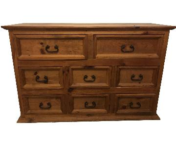 Pottery Barn Rustic Solid Wood 8 Drawer Dresser