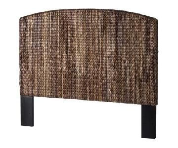 Pottery Barn Seagrass Queen Size Headboard