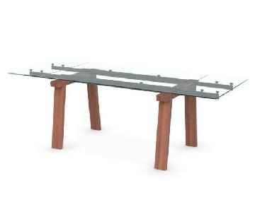 Calligaris Levante Glass Extendable Table