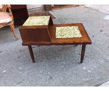 Vintage 1970s Wooden Side Table