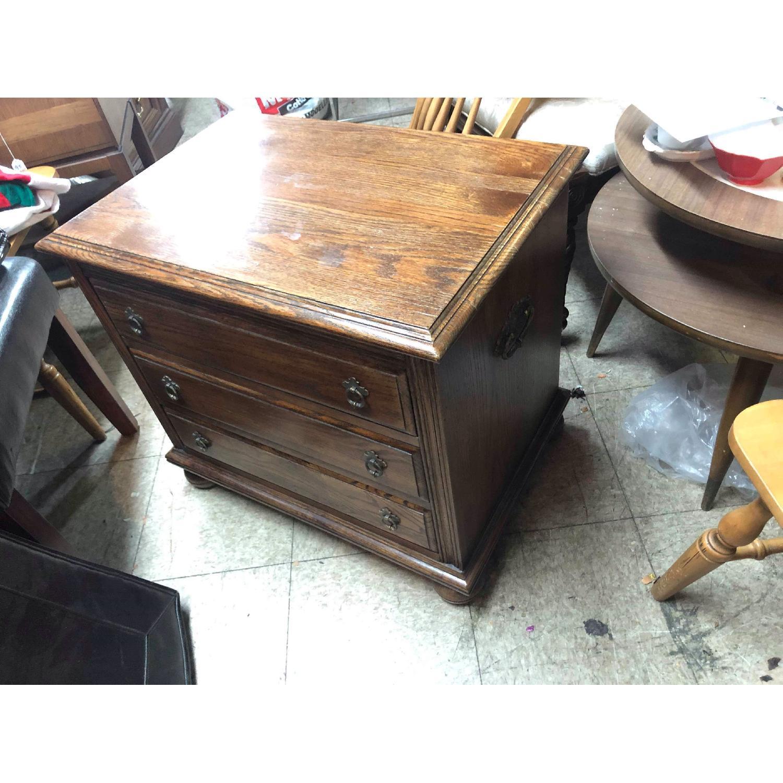 Ethan Allen Vintage 3 Drawer Nightstand