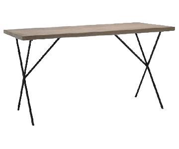West Elm Metal Truss Work Table & Chair