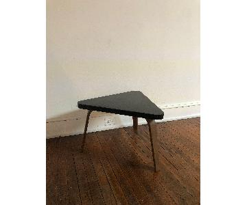 Vintage Triangle Black Side Table
