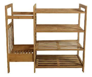 Bamboo Entryway Shelf