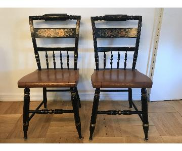 Vintage Hitchcock Style Dining Chairs