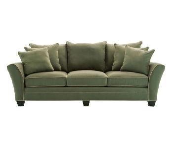 Raymour & Flanigan Briarwood Green Sofa