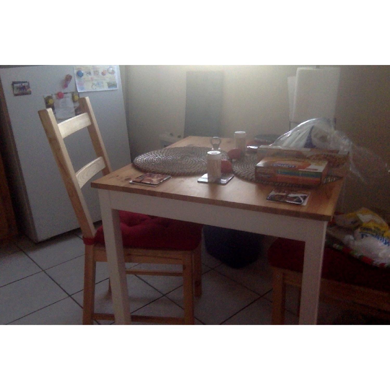 Ikea Lerhamn 3-Piece Dining Set