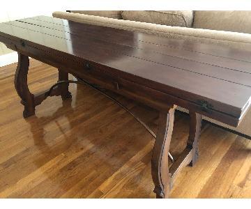 Mahogany Wood Convertible Sofa Table/Dining Table