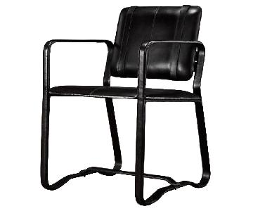 Restoration Hardware Buckle Chair in Black Leather